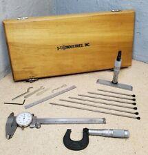 Scherr Tumico Tool Kit 1 Micrometer Depth Mic Dial Caliper Starrett Scale