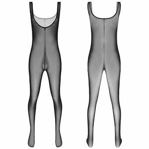 Strumpfband Body Strumpfhose Herren Durchsichtig Clubwear M ~ 2XL Unterwäsche