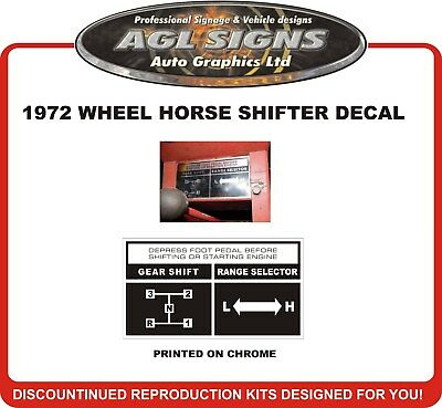 "2.25/"" x 1.50/"" WHEEL HORSE SHIFT PATTERN DECAL SET OF 2"