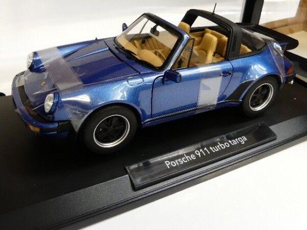 1/18 NOREV PORSCHE 911 Turbo Targa 3.3 1987 Bleu Métallisé 187663 | Grand Assortiment  | Qualité Et Quantité Assurée  | Sale  | à Gagnez Un Haut Admiration