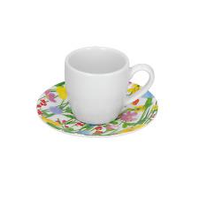 Rose e Tulipani - Flores - Set 6 Tazze Caffè con piatto - Rivenditore