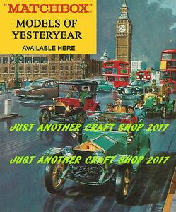 Matchbox Serie 1-75 Groß Poster Prospekt Anzeige Shop Display Zeichen 1966