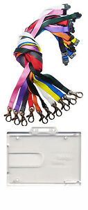 Badge-Buddy-Double-ID-Card-Holder-amp-ID-Neck-Strap-Lanyard-With-Metal-Clip