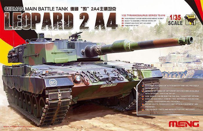 Meng German Main Battle Tank Leopard 2 A4 1 35 TS-016 Solid German Model Set