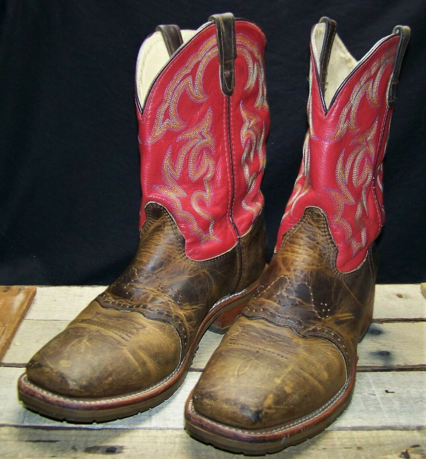 Men's Double H Cowboy Boots (13D brown/red)