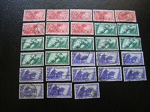 Italy-Stamp-Yvert-and-Tellier-N-308-x8-309-x9-312-x11-Obl-A11-Stamp-Italy
