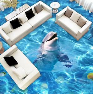 3D Shiny Marine Dolphin 8 Floor WallPaper Murals Wall Print Decal AJ WALL CA