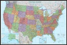 X Maps United States USA US Decorator Wall Map Poster Mural EBay - Free us map poster