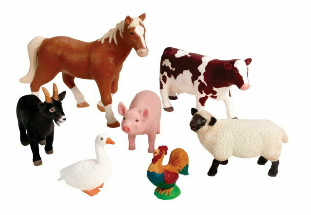 Learning Resources Ler0694 Jumbo Farm Animals Pack Of 7 For Sale Online Ebay