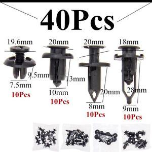 40x-Car-Push-Retainer-Pin-Body-Bumper-Rivet-Trim-Moulding-Clips-Accessories-Kits
