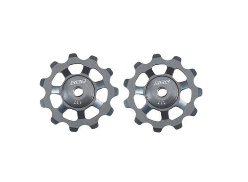BBB AluBoys Jockey Wheels Gear Pulleys Grey BDP-21