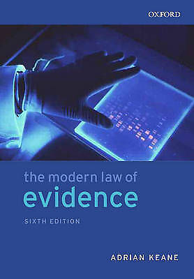 1 of 1 - The Modern Law of Evidence by Adrian Keane (Paperback, 2005)
