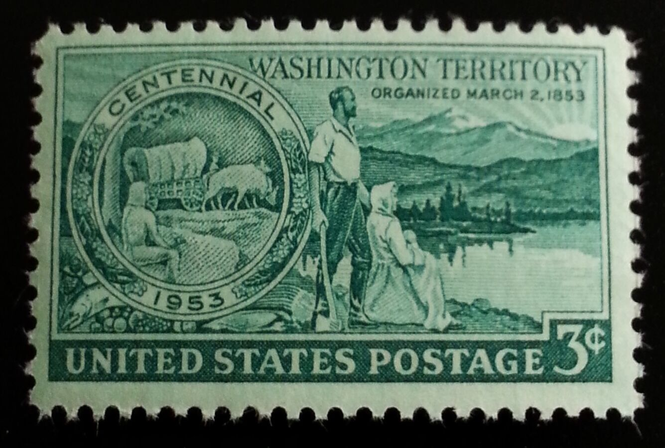 1953 3c Washington Territory Centennial Scott 1019 Mint