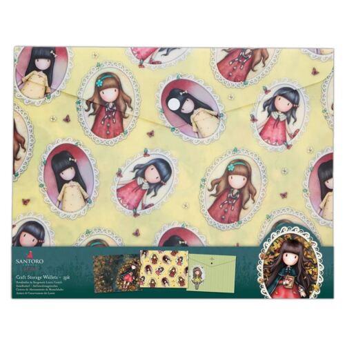 Santoro feuilles d/'automne Carte Craft Collection de stockage-Set de 3 boucles Porte-monnaie