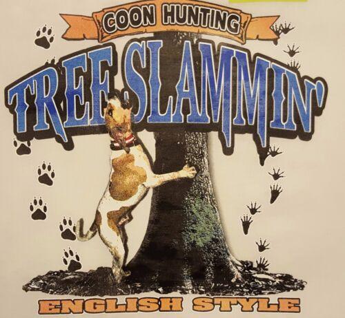 ENGLISH HOUND TREE SLAMMIN/' HUNTER COONDOG COON HUNTING #500-F POCKET SHIRT