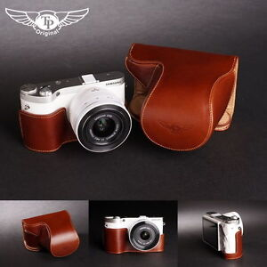 Handmade-Full-Real-Leather-Camera-Case-Bag-Cover-for-Samsung-NX300-20-50mm-Lens