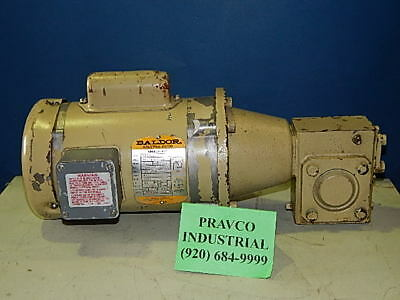 HP 1725RPM with Browning Gear Reducer SM133C1-15 Baldor Motor KL3400 1//6 .166