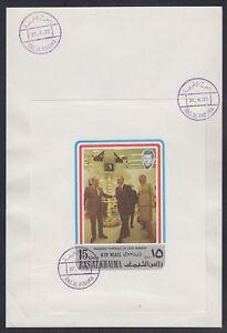 1972-Ras-al-Khaima-FDC-Visit-of-Pompidou-Cape-Kennedy-Space-M-S-white-brd729