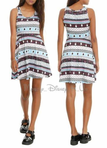 Disney Frozen Elsa /& Anna Silhouette Fair Isle Skater Sun Dress Juniors Size XS