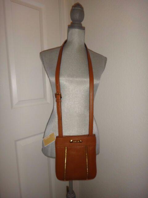 MICHAEL KORS Moxley Women's MK Messenger Cross body Shoulder Bag Luggage Leather