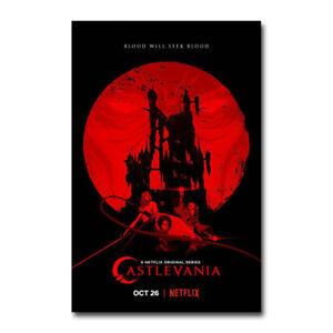 Castlevania Season 2 Netflix Animated TV Series Art Silk Poster Print