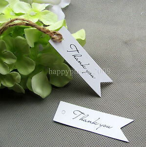 Gift Tags For Wedding Favors Australia : ... -White-Paper-Thank-you-Card-With-Jute-Rope-Gift-Tag-Wedding-Favors