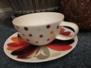 Polka Dot 4 5 Rim Oversized Tea Coffee