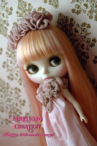 BUBUJOJO Sweethearty long dress set for Kenner Blythe doll cloths outfits - Pink