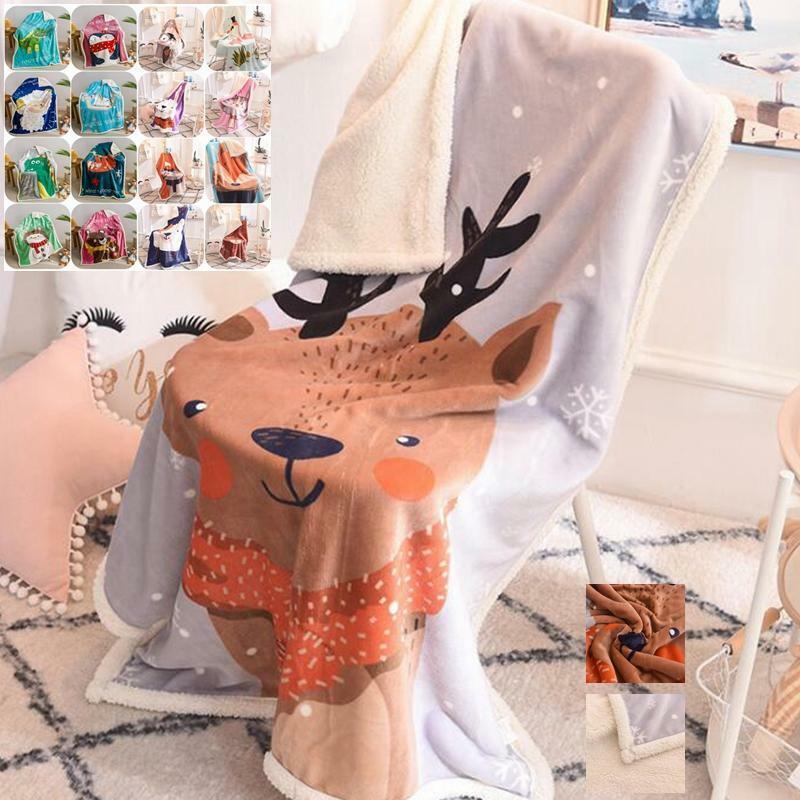 Weich Wohndecke Cartoon Kind Decke Sessldecke Sofadecke Tagesdecke Xmas Geschenk