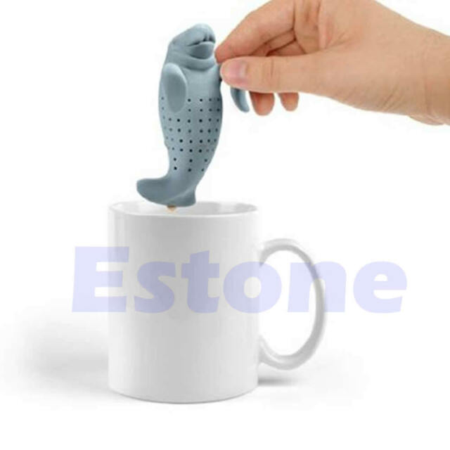Silicone Manatee Diffuser Infuser Loose Tea Leaf Strainer Herbal Spice Filter