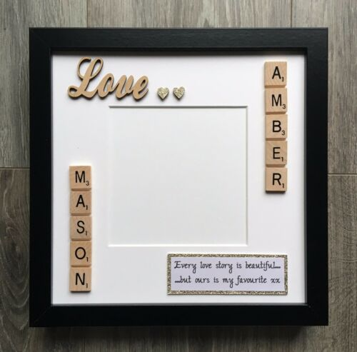 Scrabble Imagen Foto Marco Amor San Valentín Compromiso Aniversario de Bodas B