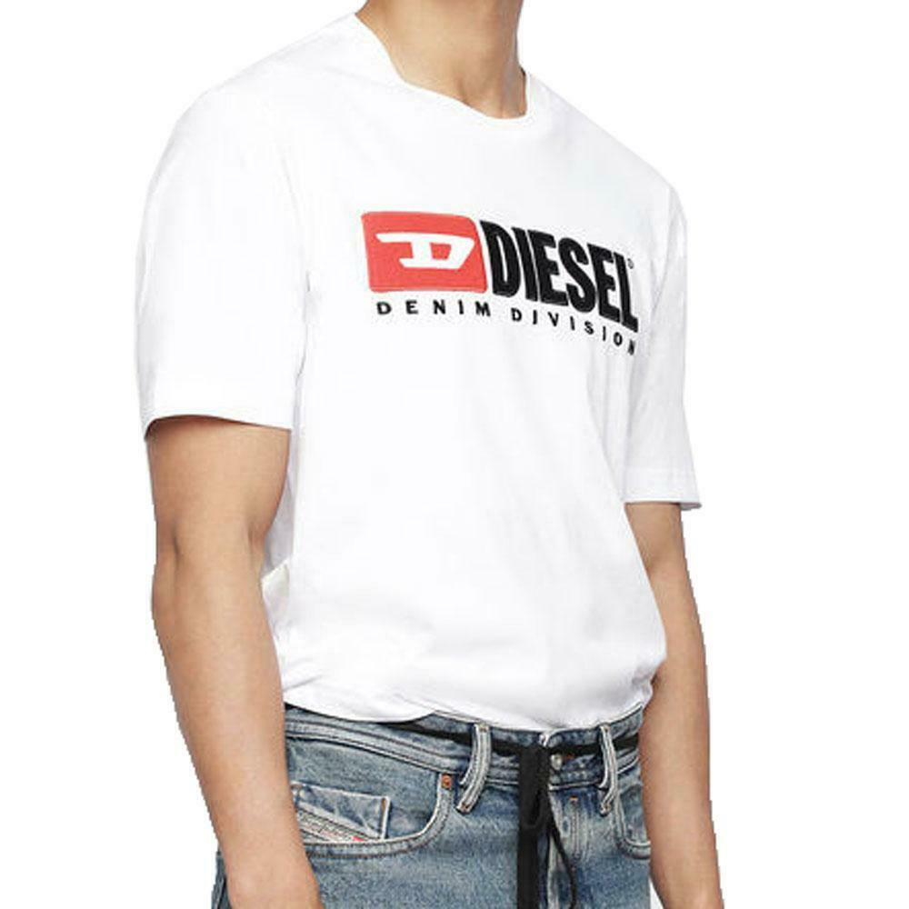 Diesel T-Just-Division industry logo T-shirt - Weiß