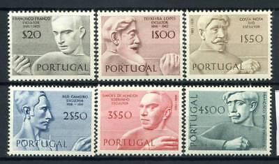 1130-1135 Postfrisch 100% Bildhauer Kunst Kultur Hell Und Durchscheinend Im Aussehen Briefmarken Portugal 1971 Mi Europa