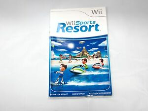 wii sports resort for wii instruction manual booklet only ebay rh ebay com Japanese Wii U Instruction Manual Wii Remote Instruction Guide