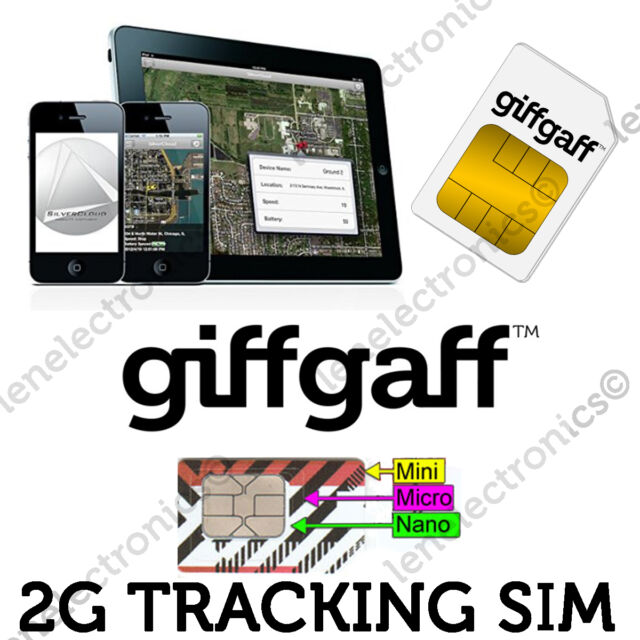 2G Sim Card for GPS Tracking Device Tracker GSM Car Pet Child Personal on PAYG !
