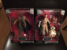 "Star Wars Exclusive Elite Series 6.5"" Rey w/ BB-8 & Finn Die Cast Figures NEW"