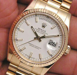 Rolex-Day-Date-President-118238-White-Index-Dial-36mm-18k-Yellow-Gold-Watch