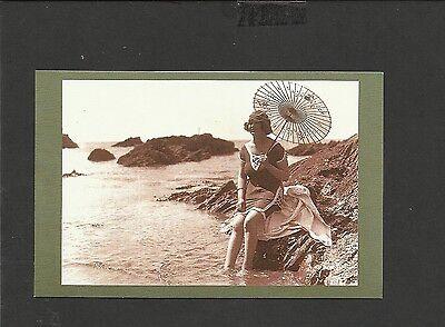Nostalgia Postcard Bathing Fashion at Plymouth 1921