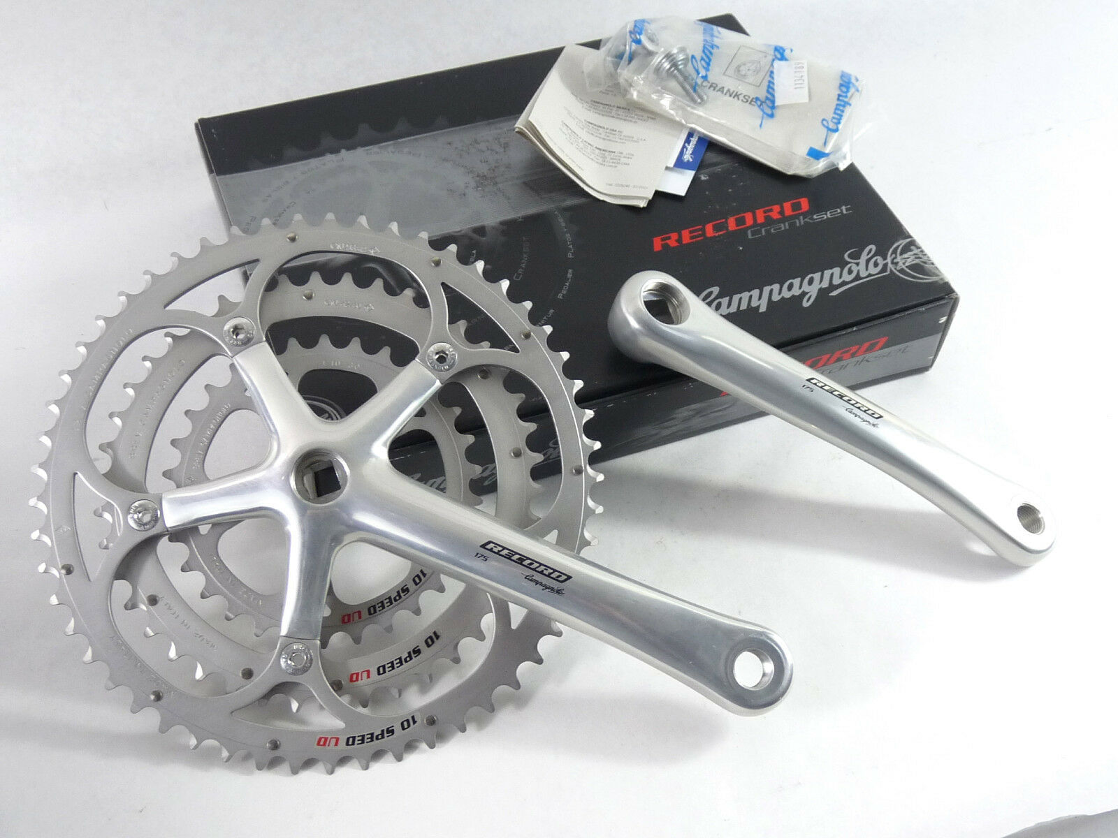 Campagnolo Record Crankset 10 Speed Triple 175 53 42  30 Ultra Drive Bicycle NOS  best reputation