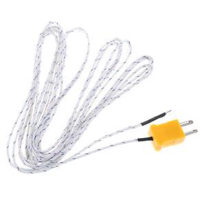 1PC 5m K type temperature sensor thermocouple probe cable wire T_T1