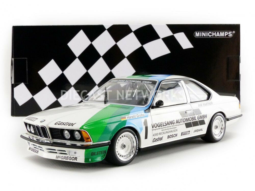 Minichamps BMW 635 CSI WINNER ZOLDER 1984 Grohs  1 1 18 Scale LE of 354 New