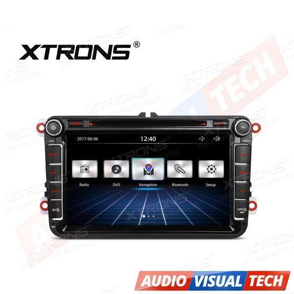 "XTRONS Car Stereo Radio 8"" HD DVD Player GPS Sat Nav VW PASSAT/SKODA Fabia/SEAT"