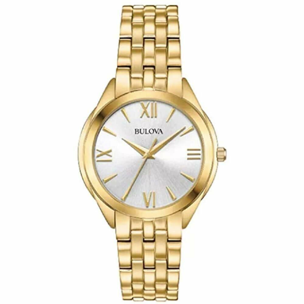 Bulova 97L160 Water-Resistant Women's Gold Classic Watch  | eBay