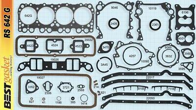 Oldsmobile 394 V8 Full Gasket Set 1961-1964 Best Gasket RS642G