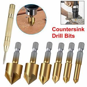 7x-Countersink-Drill-Bit-Set-5-Flute-90-Counter-6mm-19mm-Sink-Chamfer-Cutter