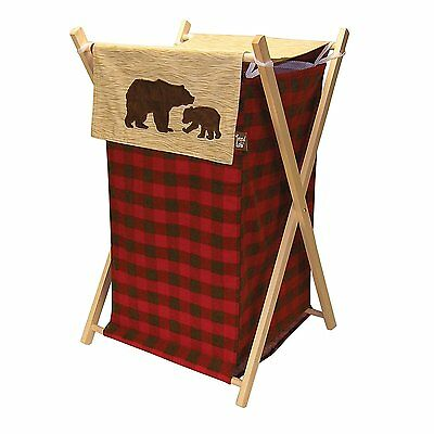 Northwoods Hamper Set Trend Lab Collapsible Bears Rustic