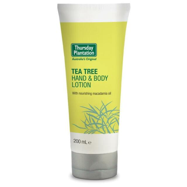 THURSDAY PLANTATION TEA TREE HAND & BODY LOTION 200ML WITH MACADAMIA OIL