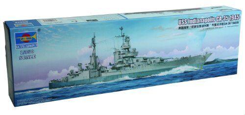 USS Indianapolis CA-35 1945 Battleship Plastic Kit 1 350 Model TRUMPETER