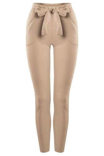 Bongual Pantalon Femmes stoffhose Chino sommerhose Pantalon avec nœud 34-36-38
