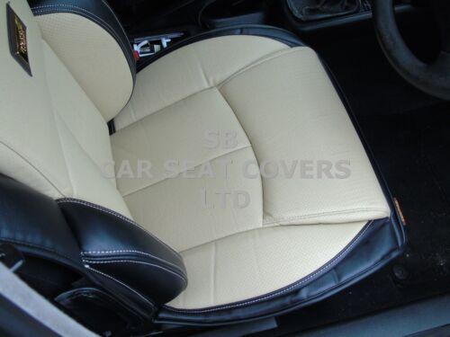YS01 RECARO CAR S// COVERS CREAM//BLACK i TO FIT A NISSAN LEAF